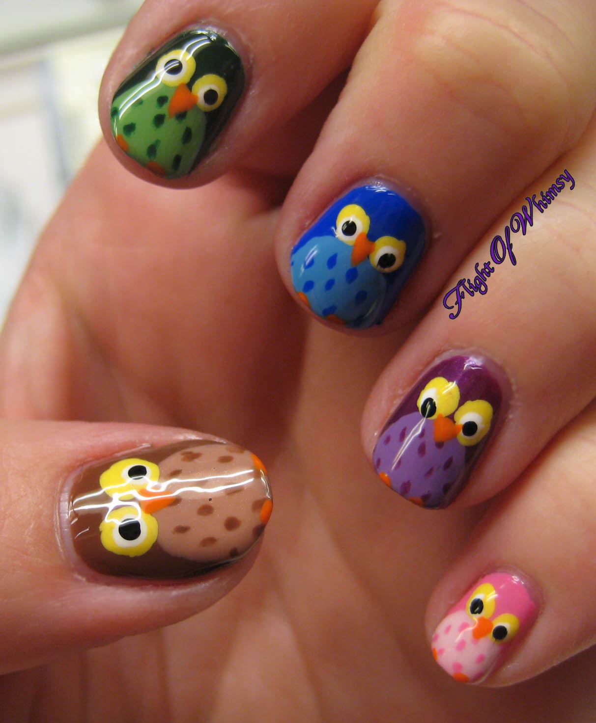 Animal Nail Art: Owl Of A Different Color