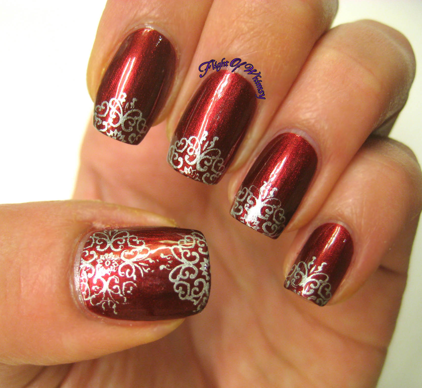 Red and silver nails galleryhip com the hippest galleries