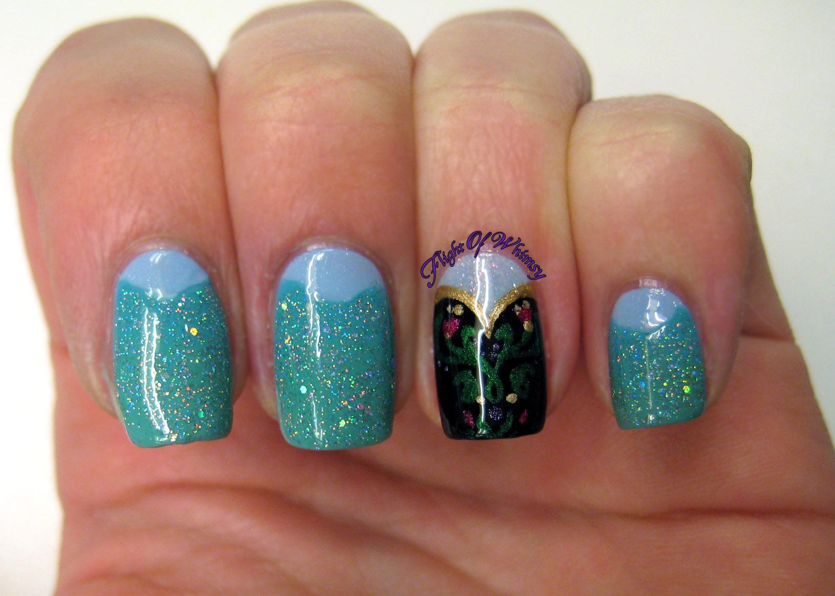 Nails Elsa Frozen