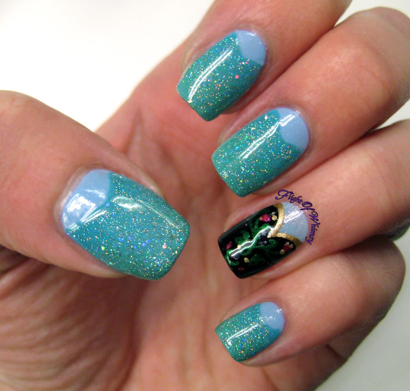 Princess Themed Nails: Flight Of Whimsy