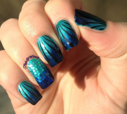 Blue and Glitsy