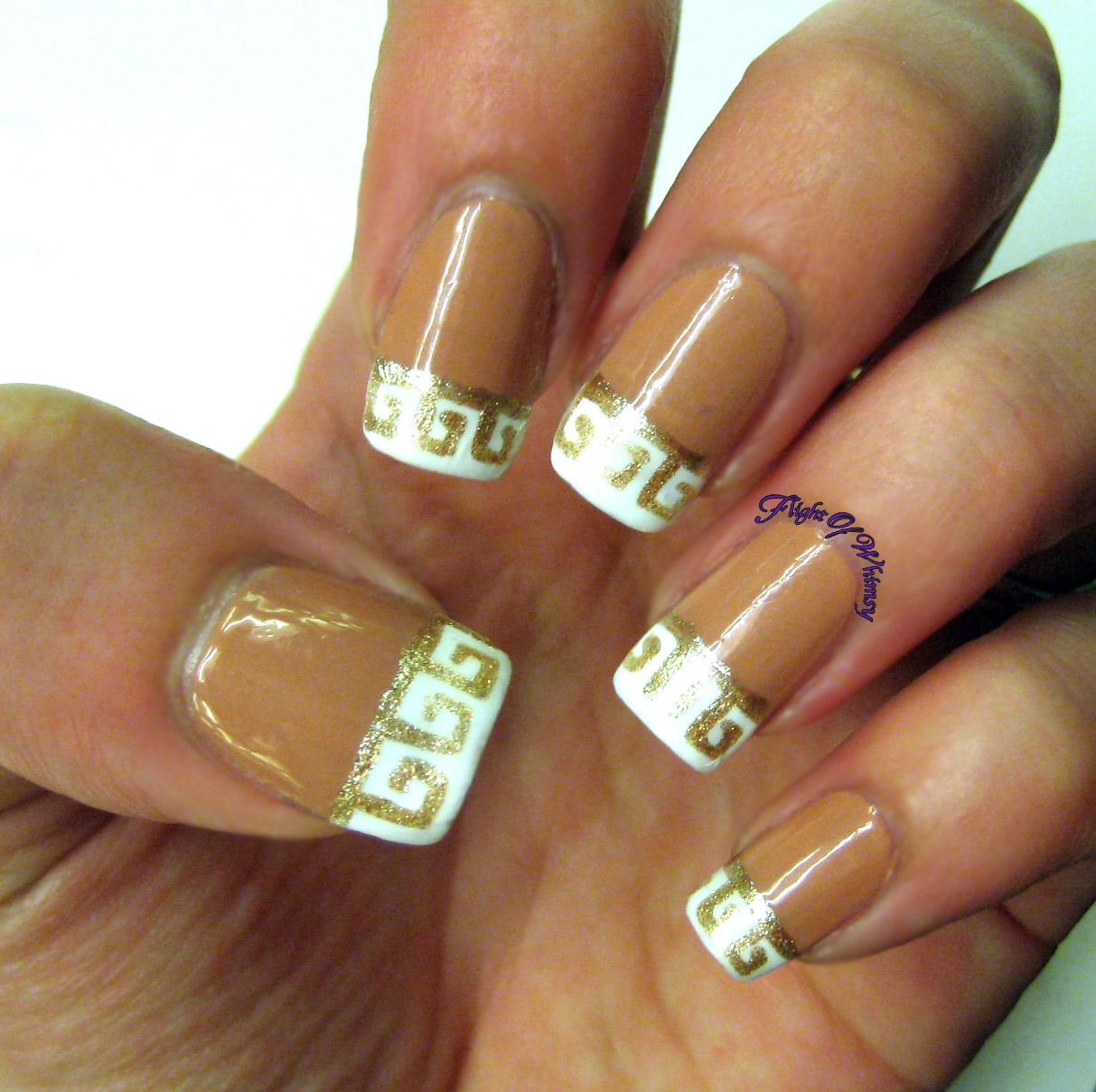 Wild French Tip Nail Designs: Flight Of Whimsy