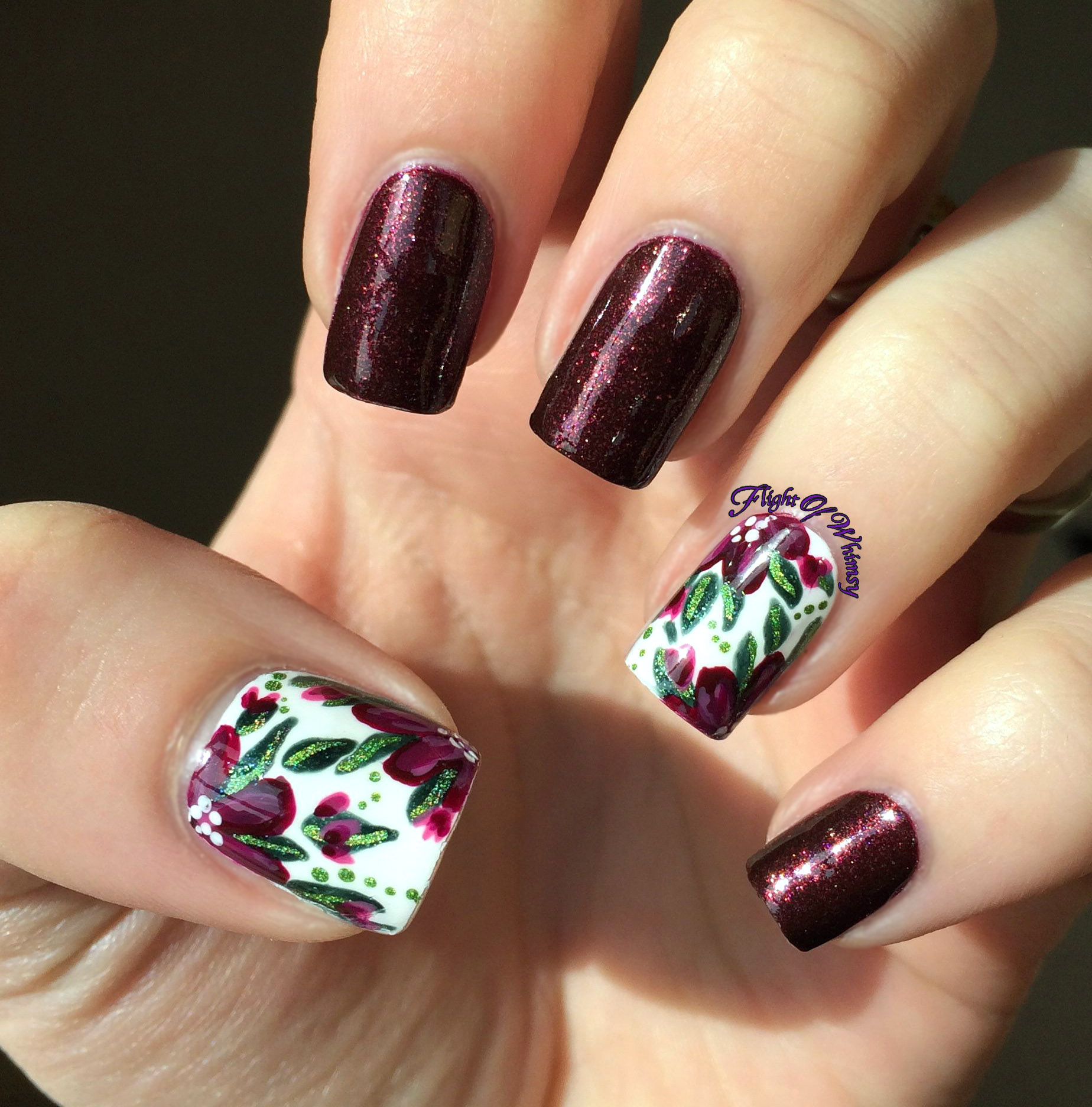 Burgundy Floral | Flight Of Whimsy