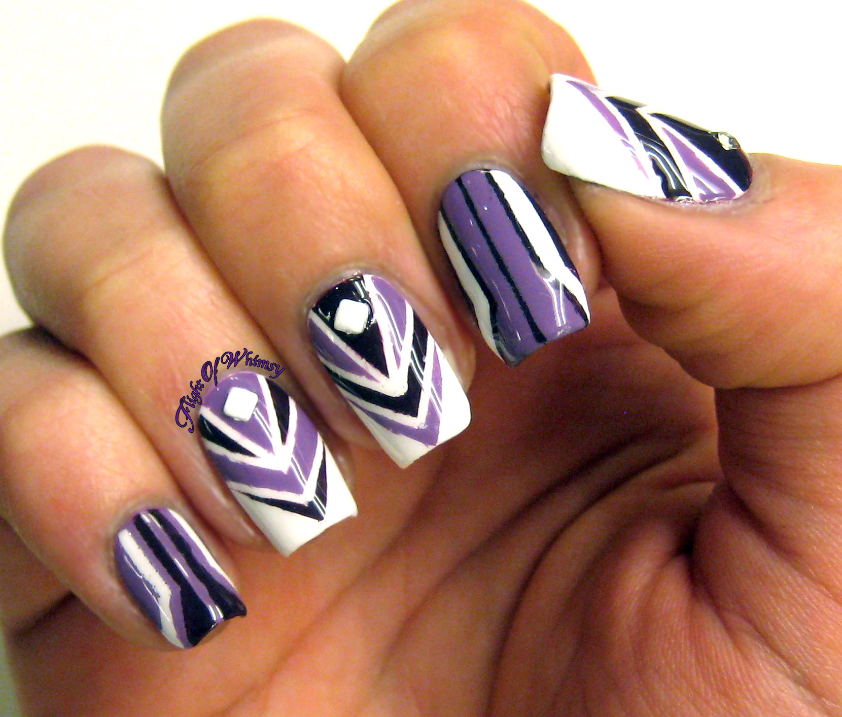 Art Nouveau Purple   Flight Of Whimsy
