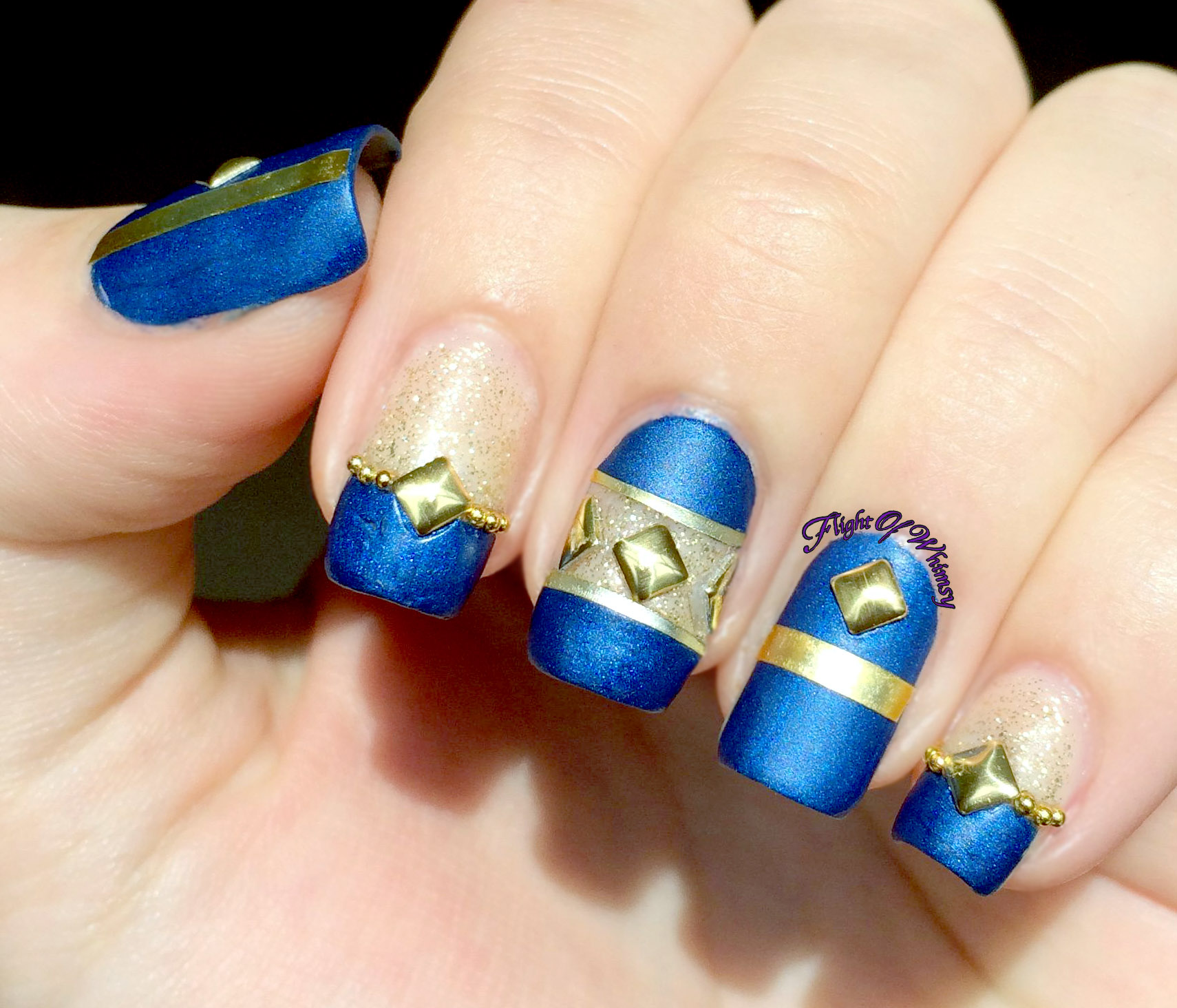Blue Gold Glimmer | Flight Of Whimsy